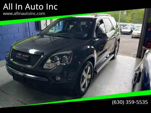 2011 GMC Acadia for sale at All In Auto Inc in Addison IL