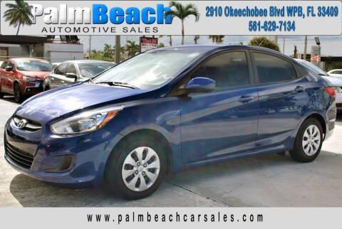 2017 Hyundai Accent for sale at Palm Beach Automotive Sales in West Palm Beach FL