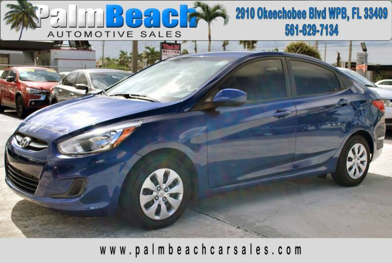 2017 Hyundai Accent for sale at Palm Beach Automotive Sales in West Palm Beach FL