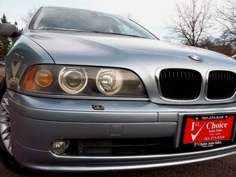 2002 BMW 5 Series for sale at 1st Choice Auto Sales in Fairfax VA