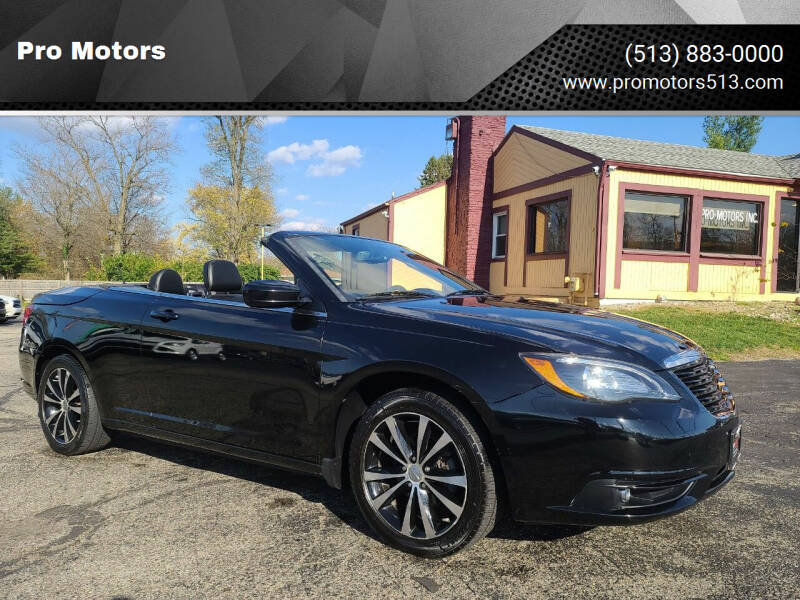 2011 Chrysler 200 Convertible for sale at Pro Motors in Fairfield OH