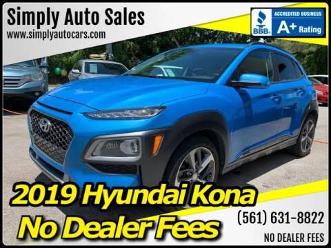 2019 Hyundai Kona for sale at Simply Auto Sales in Palm Beach Gardens FL