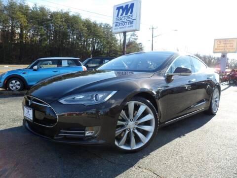 2013 Tesla Model S for sale at AUTOTYM INC in Fredericksburg VA