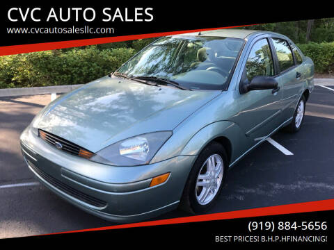 2003 Ford Focus for sale at CVC AUTO SALES in Durham NC