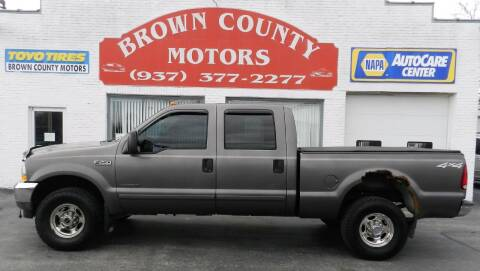 2002 Ford F-250 Super Duty for sale at Brown County Motors in Russellville OH