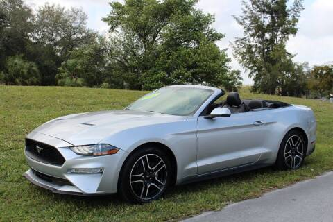 2018 Ford Mustang for sale at CHASE MOTOR in Miami FL