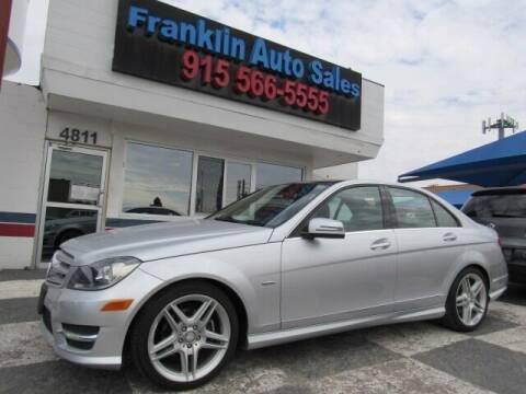 2012 Mercedes-Benz C-Class for sale at Franklin Auto Sales in El Paso TX