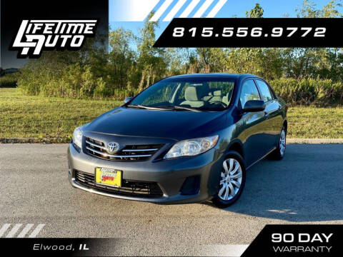 2013 Toyota Corolla for sale at Lifetime Auto in Elwood IL