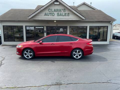 2013 Ford Fusion for sale at Clarks Auto Sales in Middletown OH
