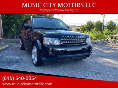 2011 Land Rover Range Rover Sport for sale at MUSIC CITY MOTORS LLC in Nashville TN