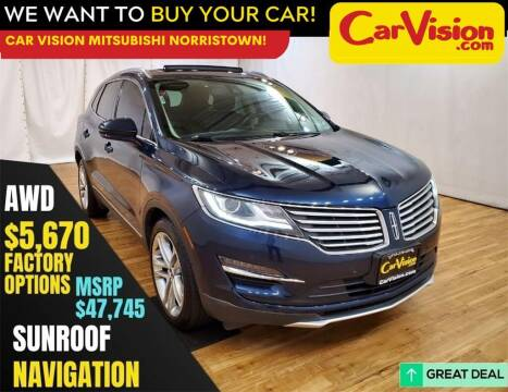 2017 Lincoln MKC for sale at Car Vision Mitsubishi Norristown in Norristown PA
