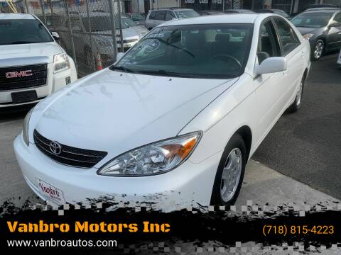 2002 Toyota Camry for sale at Vanbro Motors Inc in Staten Island NY