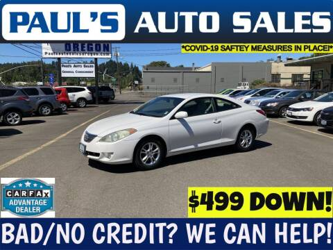 2006 Toyota Camry Solara for sale at Paul's Auto Sales in Eugene OR