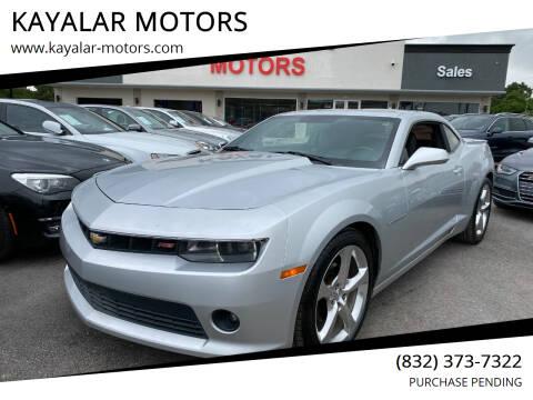 2014 Chevrolet Camaro for sale at KAYALAR MOTORS in Houston TX
