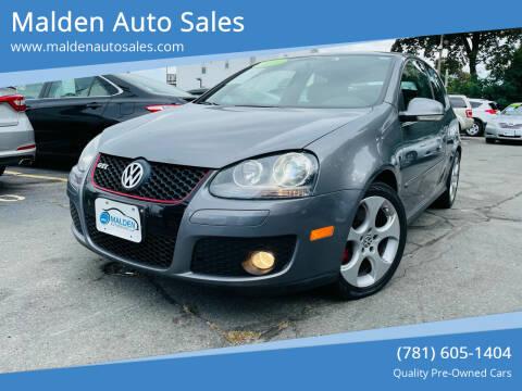 2009 Volkswagen GTI for sale at Malden Auto Sales in Malden MA