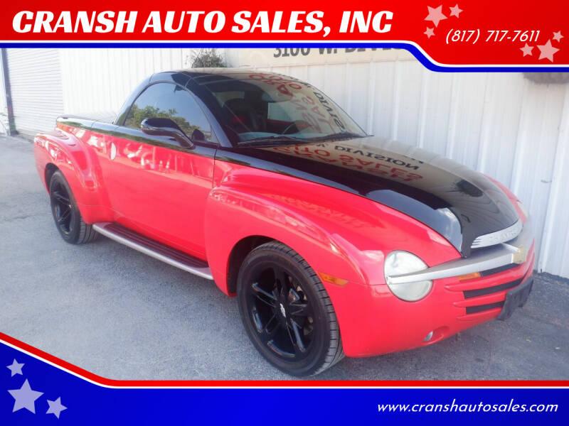 2003 Chevrolet SSR for sale at CRANSH AUTO SALES, INC in Arlington TX