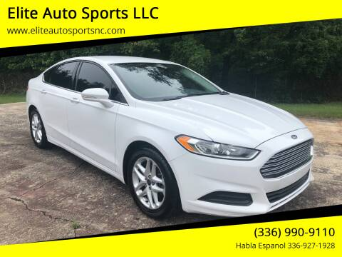 2014 Ford Fusion for sale at Elite Auto Sports LLC in Wilkesboro NC