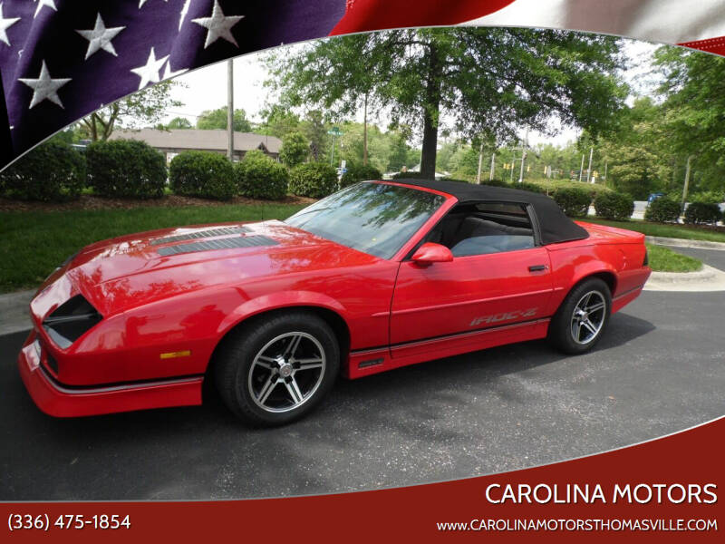 1990 Chevrolet Camaro for sale at CAROLINA MOTORS in Thomasville NC