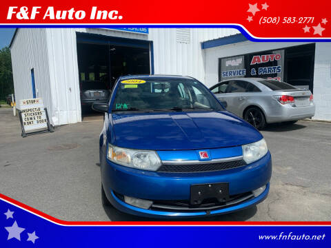 2004 Saturn Ion for sale at F&F Auto Inc. in West Bridgewater MA