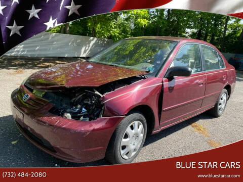 2002 Honda Civic for sale at Blue Star Cars in Jamesburg NJ