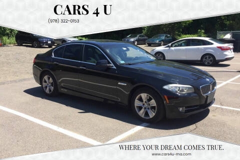2013 BMW 5 Series for sale at Cars 4 U in Haverhill MA