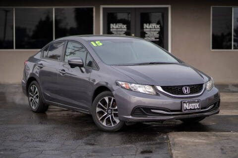 2015 Honda Civic for sale at AUTO NATIX in Tulare CA