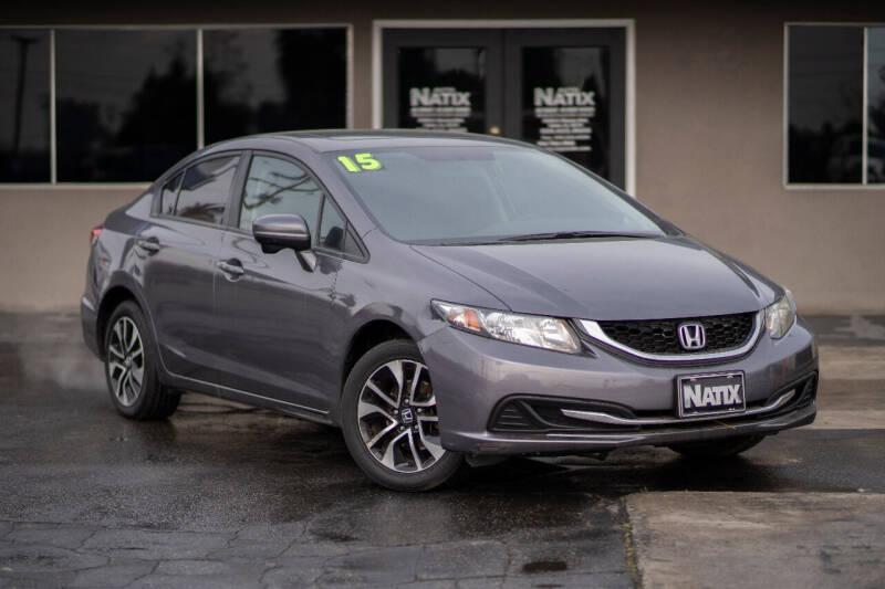 2015 Honda Civic for sale at AUTO NATIX in Tulare CA