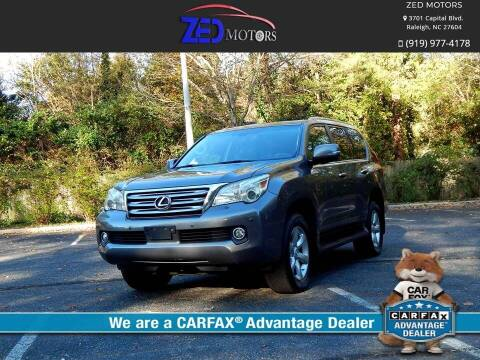2010 Lexus GX 460 for sale at Zed Motors in Raleigh NC