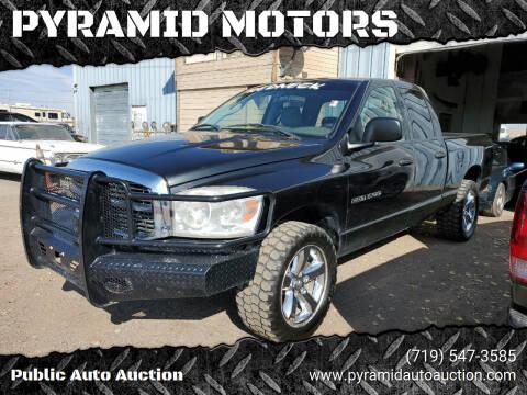 2007 Dodge Ram Pickup 1500 for sale at PYRAMID MOTORS - Pueblo Lot in Pueblo CO