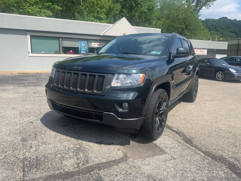 2012 Jeep Grand Cherokee for sale at B & P Motors LTD in Glenshaw PA