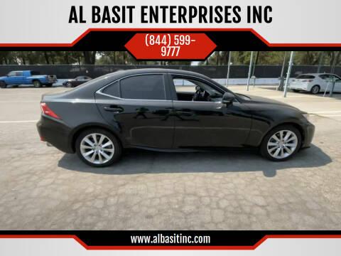 2014 Lexus IS 250 for sale at AL BASIT ENTERPRISES INC in Riverside CA