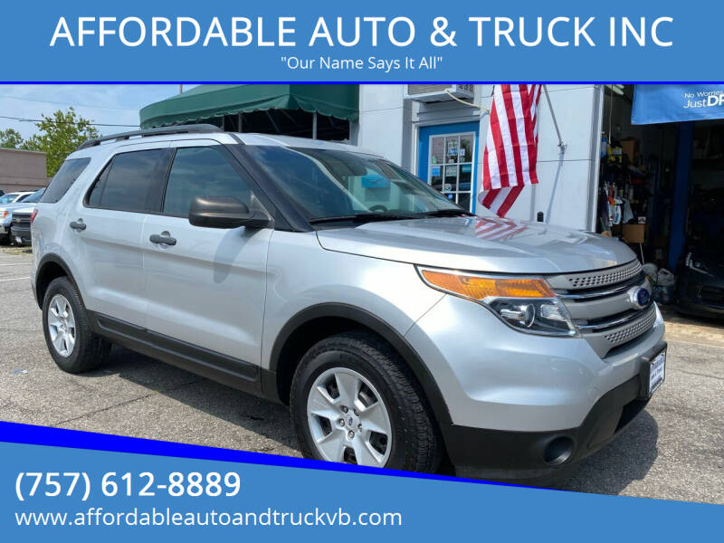 2014 Ford Explorer for sale at AFFORDABLE AUTO & TRUCK INC in Virginia Beach VA