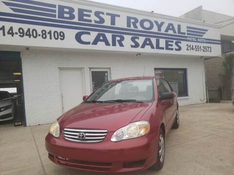 2003 Toyota Corolla for sale at Best Royal Car Sales in Dallas TX
