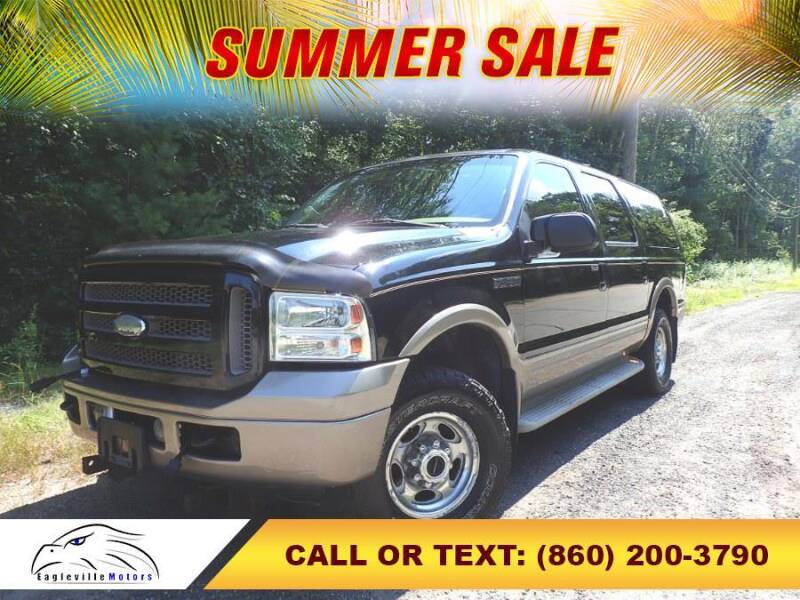2005 Ford Excursion for sale at EAGLEVILLE MOTORS LLC in Storrs Mansfield CT