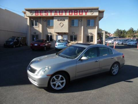 2003 Infiniti G35 for sale at Best Auto Buy in Las Vegas NV