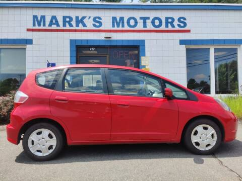 2013 Honda Fit for sale at Mark's Motors in Northampton MA