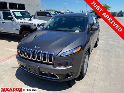2017 Jeep Cherokee for sale at Meador Dodge Chrysler Jeep RAM in Fort Worth TX