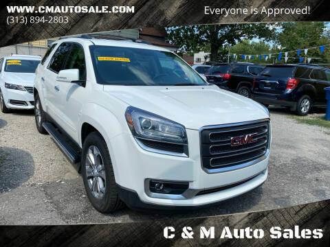 2015 GMC Acadia for sale at C & M Auto Sales in Detroit MI