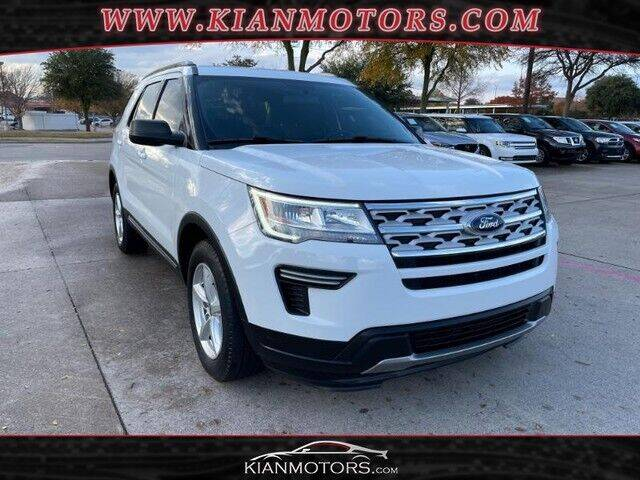 2018 Ford Explorer for sale at KIAN MOTORS INC in Plano TX
