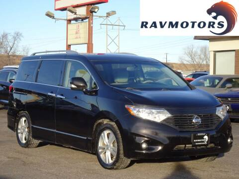 2012 Nissan Quest for sale at RAVMOTORS in Burnsville MN