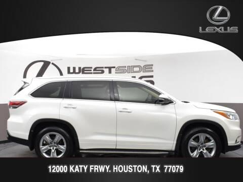 2016 Toyota Highlander for sale at LEXUS in Houston TX