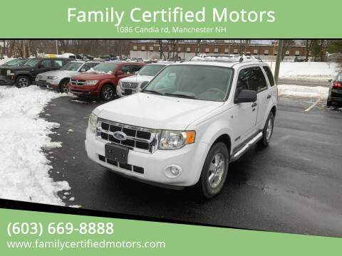 2008 Ford Escape for sale at Family Certified Motors in Manchester NH