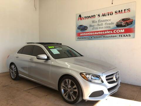 2017 Mercedes-Benz C-Class for sale at Antonio's Auto Sales in South Houston TX
