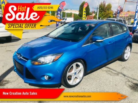 2012 Ford Focus for sale at New Creation Auto Sales in Everett WA