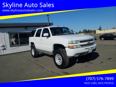 2004 Chevrolet Tahoe for sale at Skyline Auto Sales in Santa Rosa CA