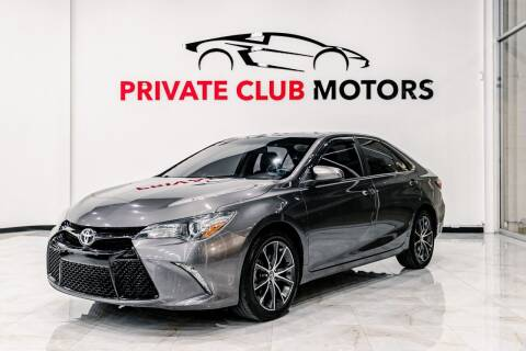2015 Toyota Camry for sale at Private Club Motors in Houston TX