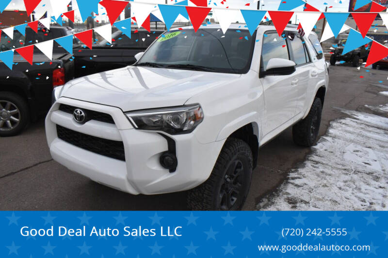 2016 Toyota 4Runner for sale at Good Deal Auto Sales LLC in Denver CO