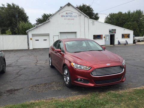 2013 Ford Fusion for sale at Autos Unlimited, LLC in Adrian MI