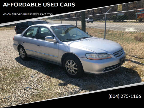 2002 Honda Accord for sale at AFFORDABLE USED CARS in Richmond VA