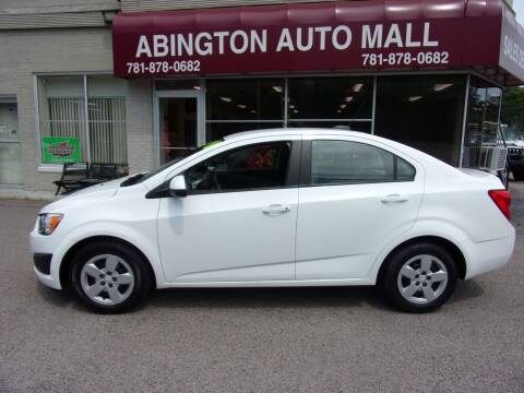 2016 Chevrolet Sonic for sale at Abington Auto Mall LLC in Abington MA
